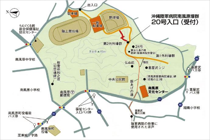 황금 숲 공원 육상경기장 지도